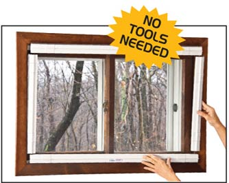 QUICKFIT WINDOW INSERTS are energy efficient Inside Storm Windows.